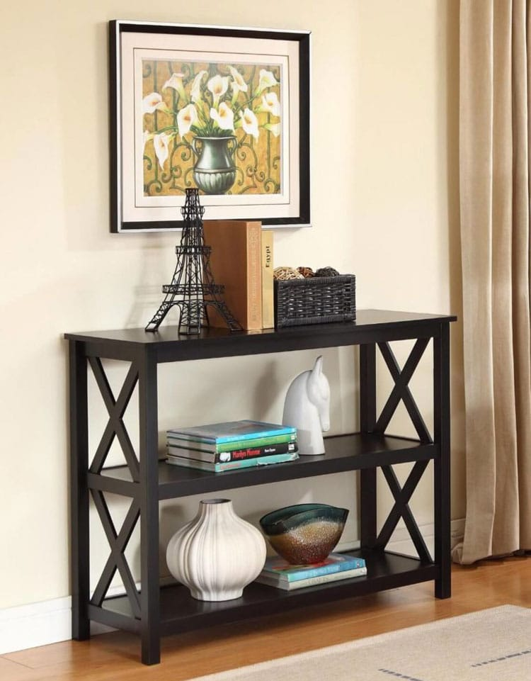 Small Black Hallway Table Decor
