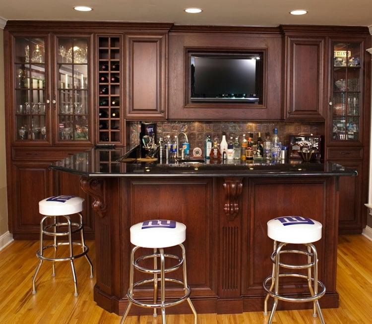 Basement Wet Bar Layout Ideas For Sports Fans
