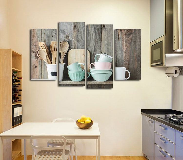 Best Kitchen Gallery Wall Decor with Multi-Canvas Art
