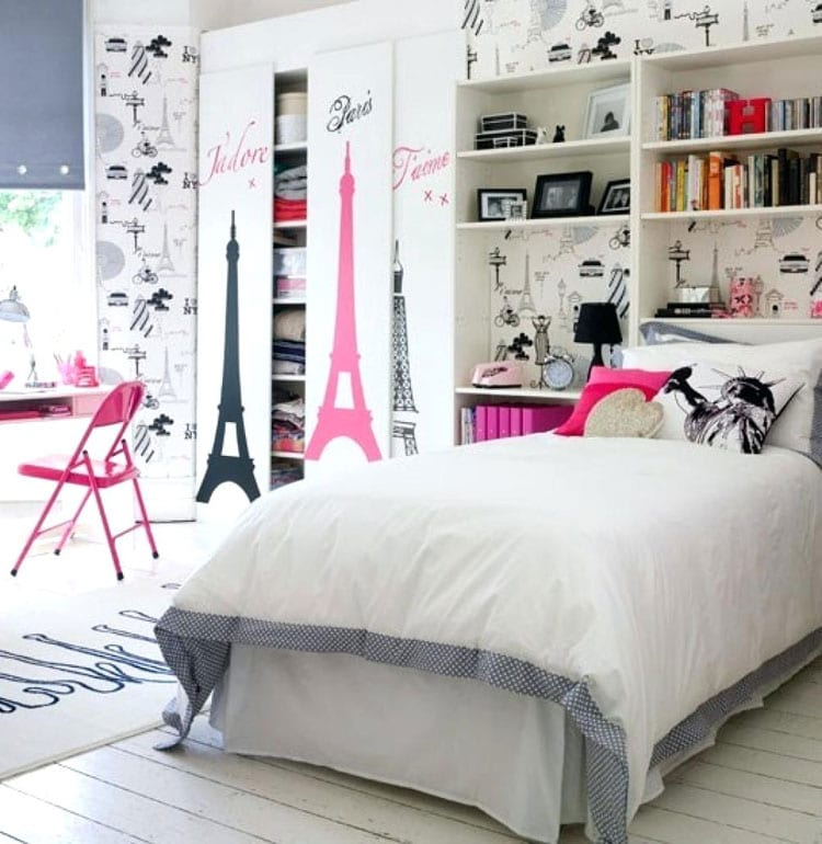 Black, White and Pink Girl Bedroom Decor For Cute Color Combinations