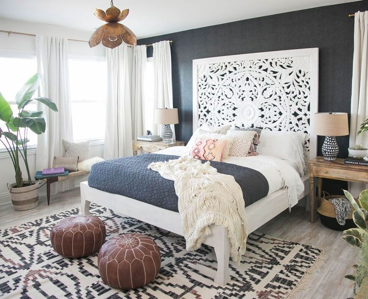 Chic Teen Bedroom with Accent Wall
