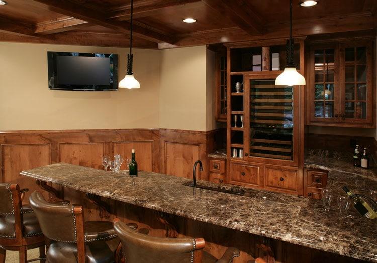 Classic Cheap Basement Wet Bar For Your Home