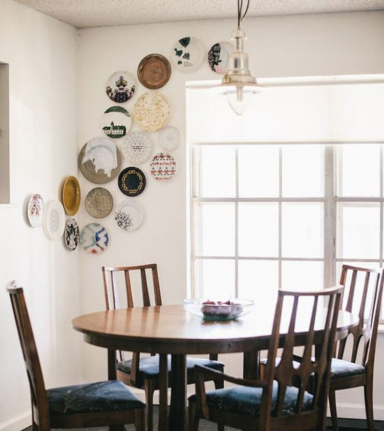 Colorful Plates For Kitchen Wall Decor Ideas