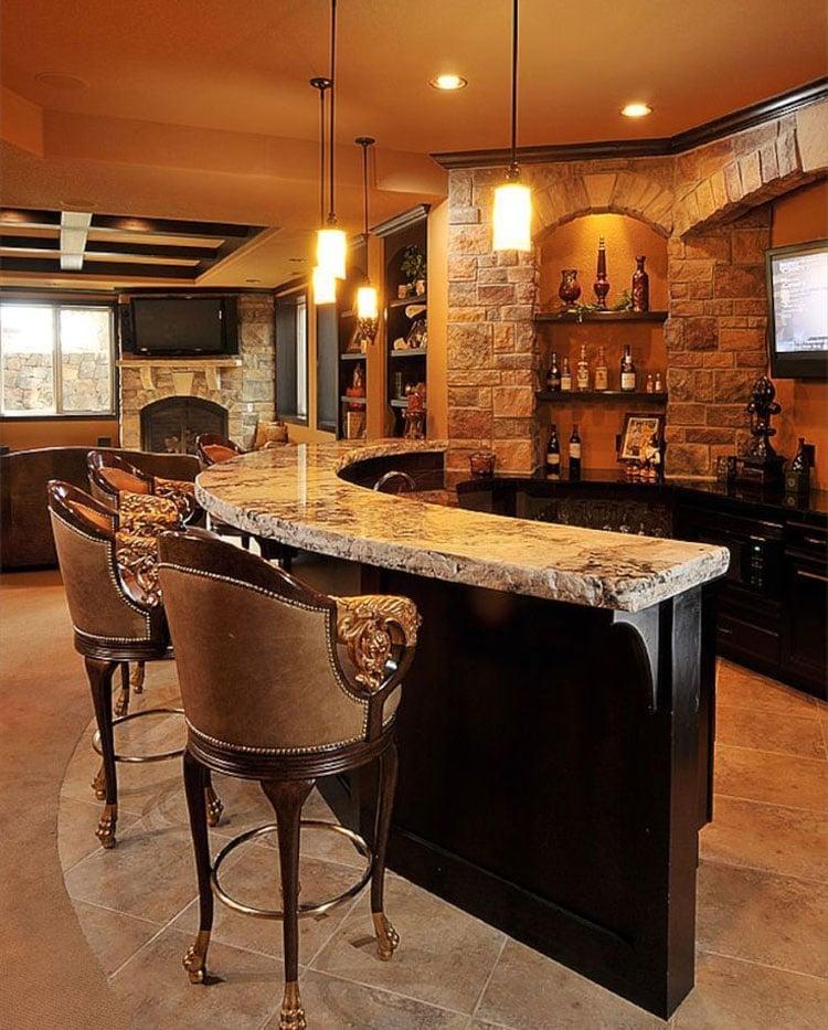 Cool Bar Tops Add An Interesting Design Element