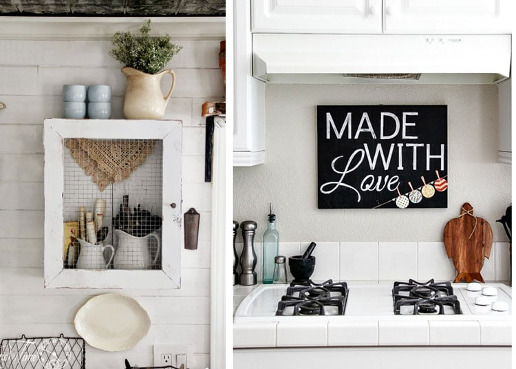 Cool Kitchen Wall Art and Storage