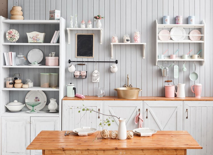 Creative Kitchen Wall Decor with Cups