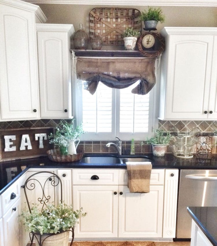 Creative Wood Kitchen Decor over Sink
