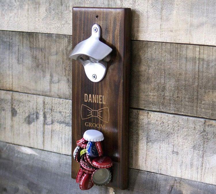 Custom Wall Mounted Bottle Opener For Basement Bar