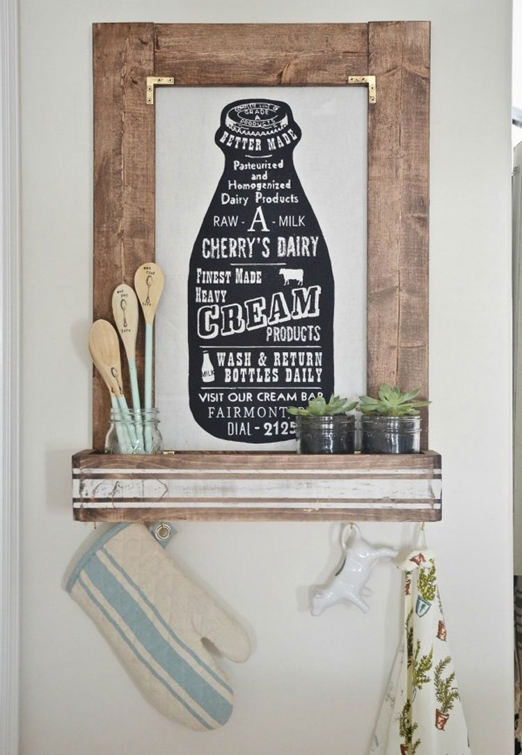 Cute Kitchen Picture Frame Ideas For Wall Art