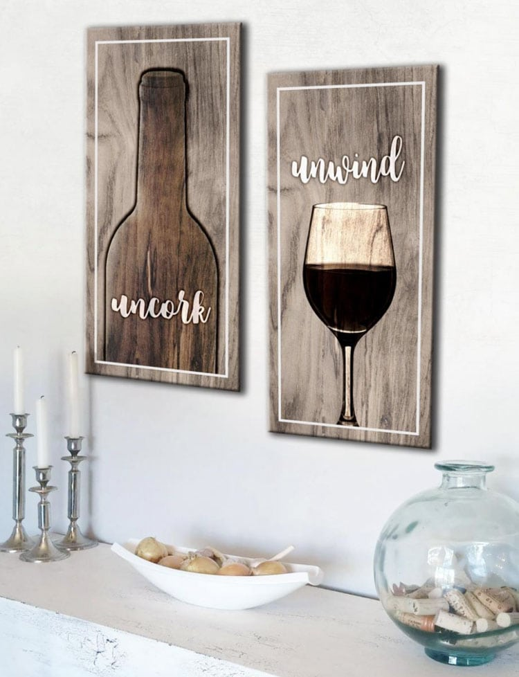 Cute Kitchen Signs For Wine Drinkers