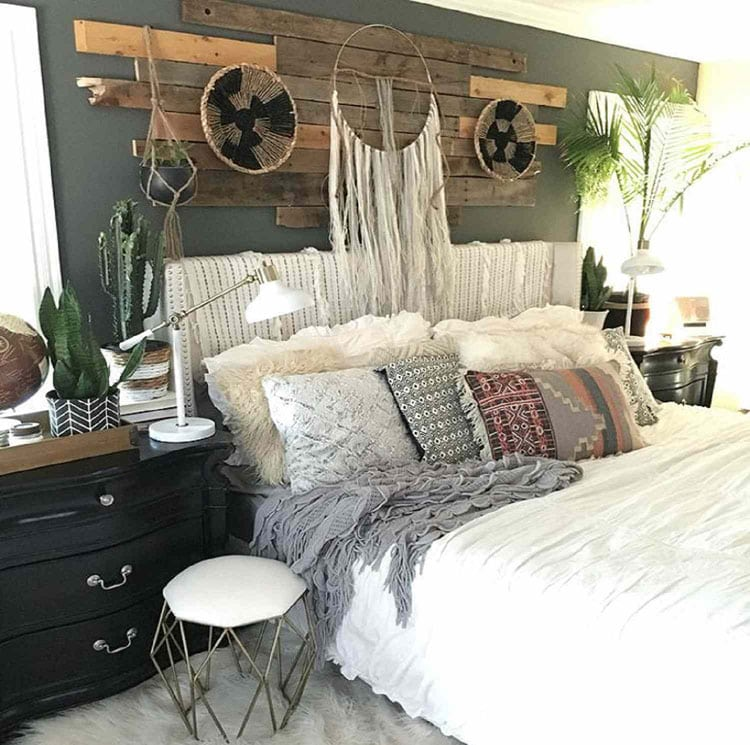 Cute Teen Girl Bedroom with Wood Panel and Soft Bedding