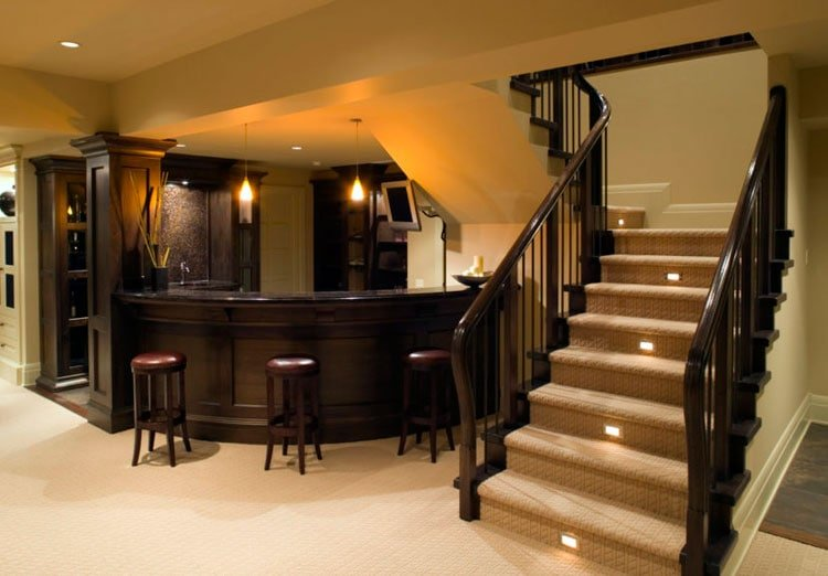 Design A Basement Bar That Connects To Existing Decor