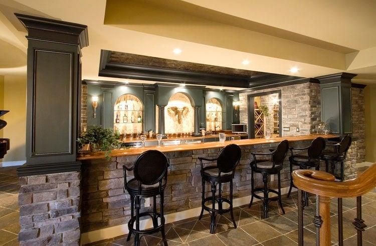 Elegant Bar For Your Basement Area