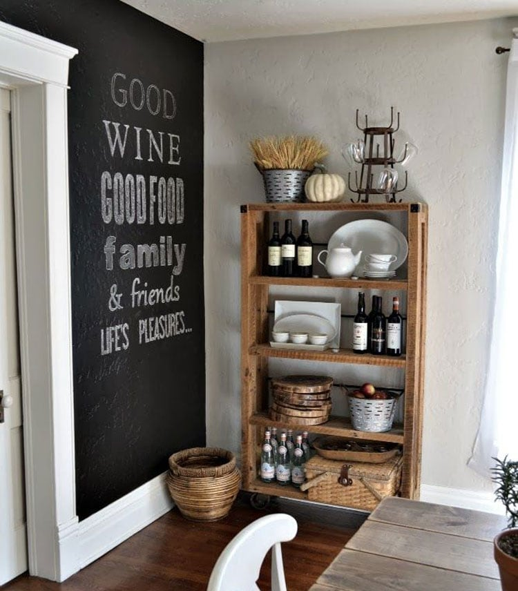 Farmhouse Chalkboard Accent Wall