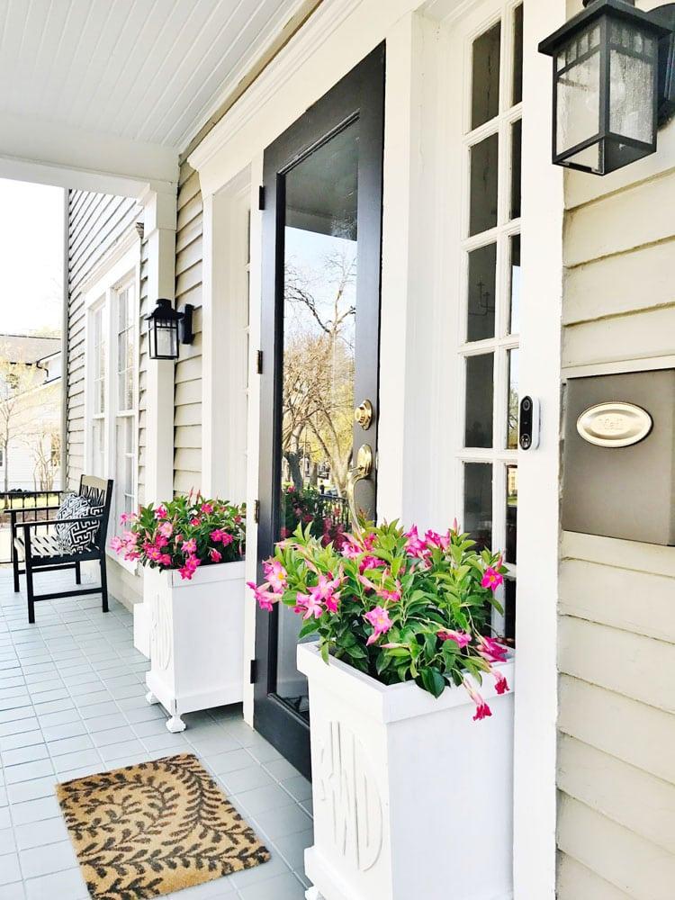 Front Door Flower Planter Ideas