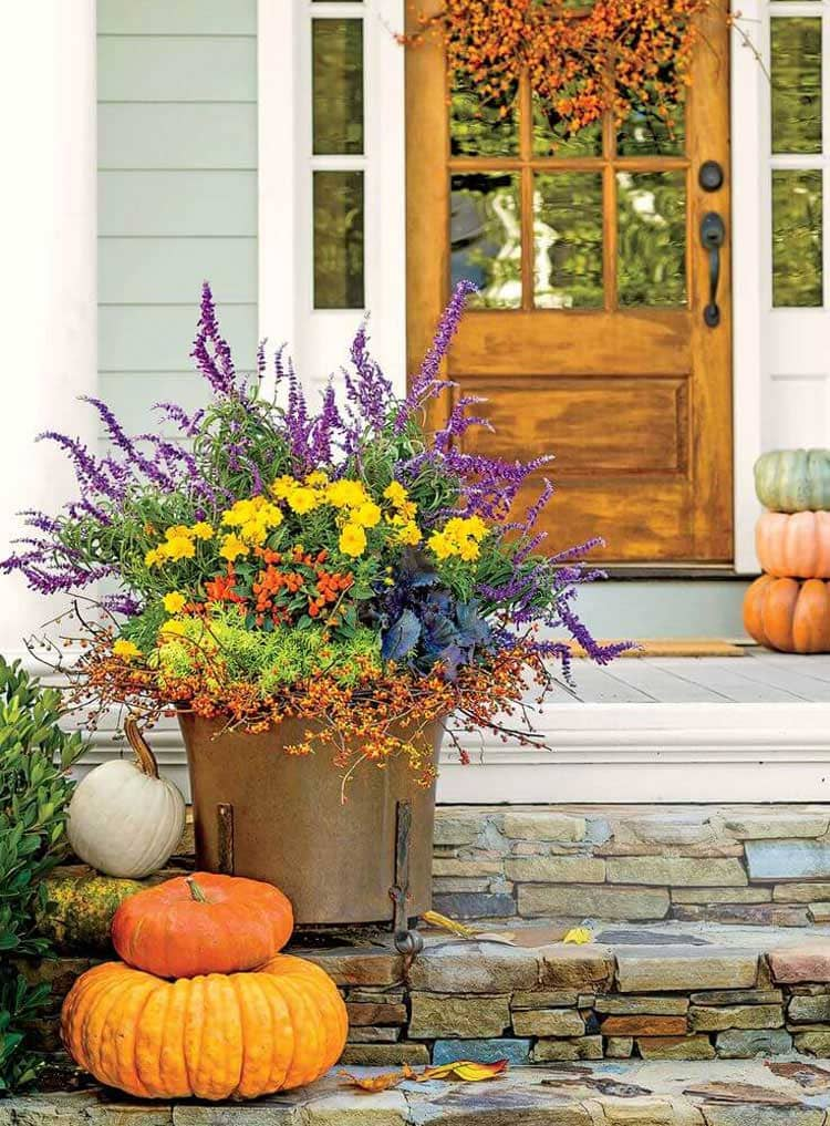 Front Door Flower Pot Decorations For Fall
