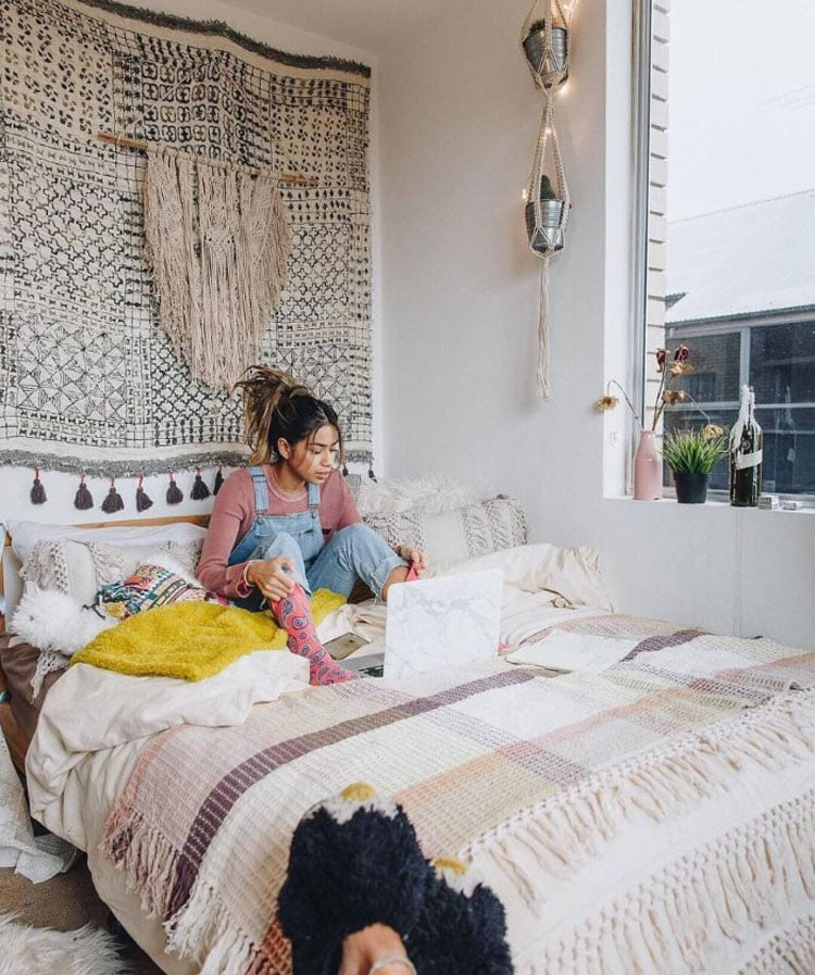 Funky Tapestries Brighten Up Boring Walls