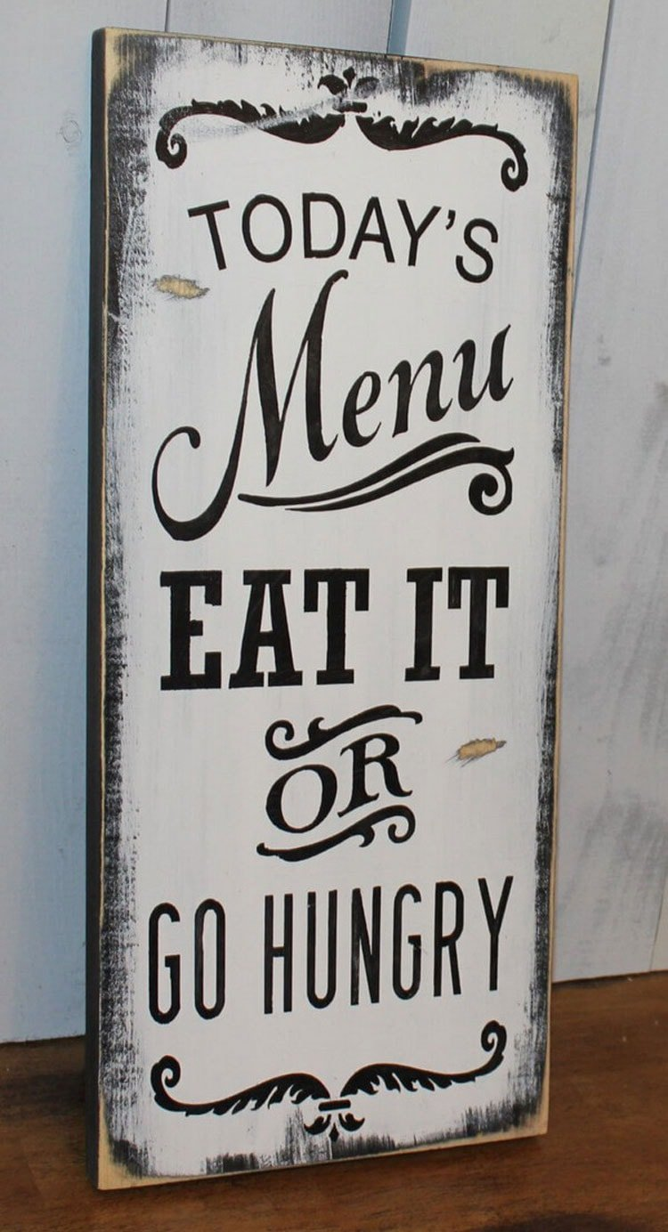 Funny Kitchen Sign Decor