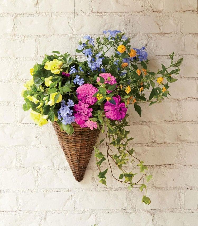 Hanging Basket Flower Pot at the Front Door