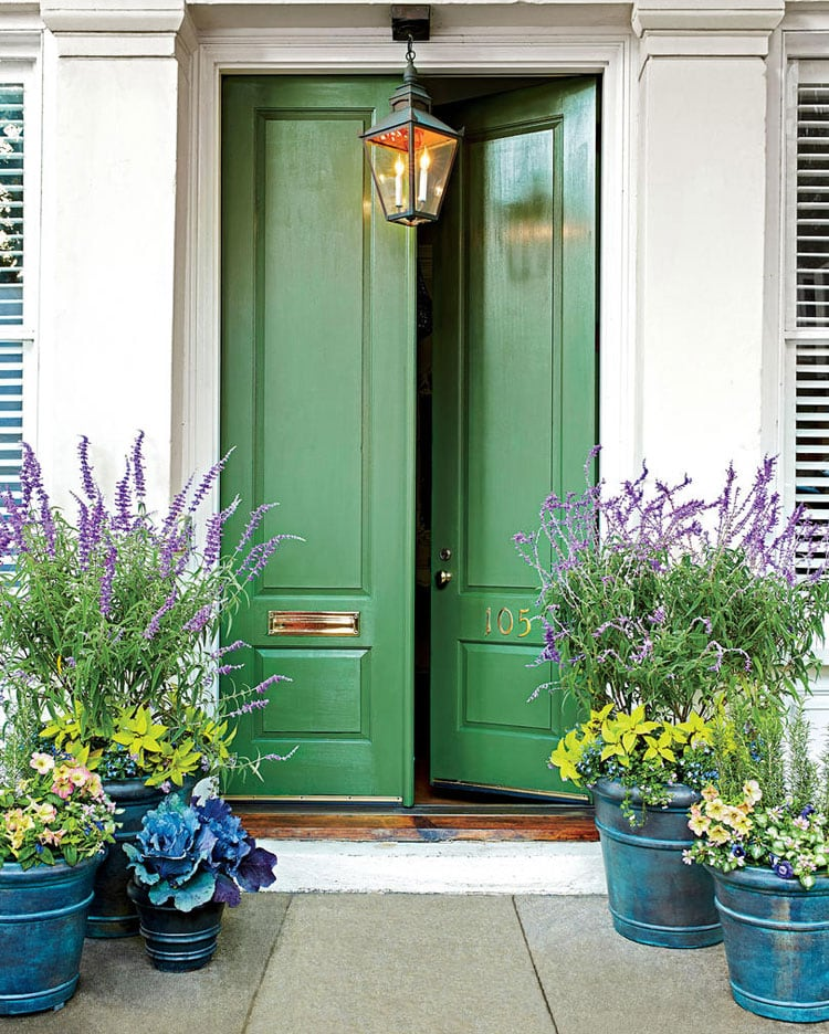Ideas For Large Flower Pots at Front Door