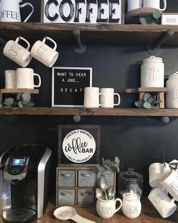 Kitchen Wall Art For Coffee Area and Mugs