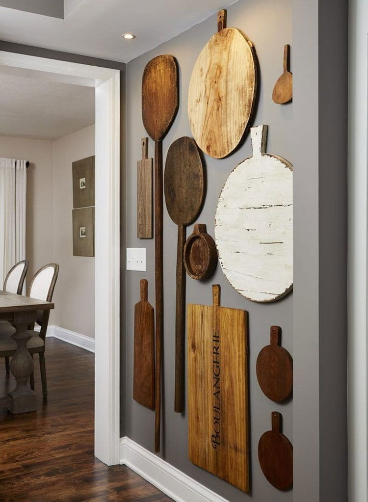 Kitchen Wall Décor Ideas with Cutting Board Gallery