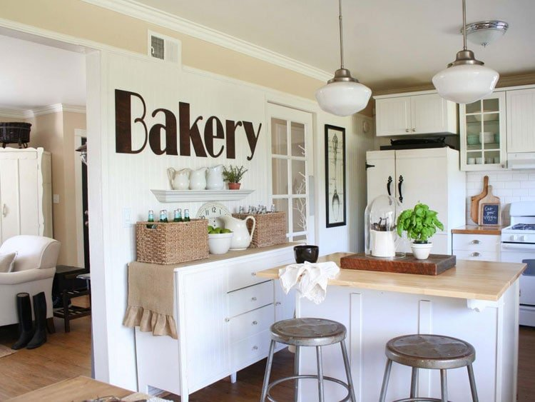 Large Kitchen Wall Decor Concepts For Open Kitchen