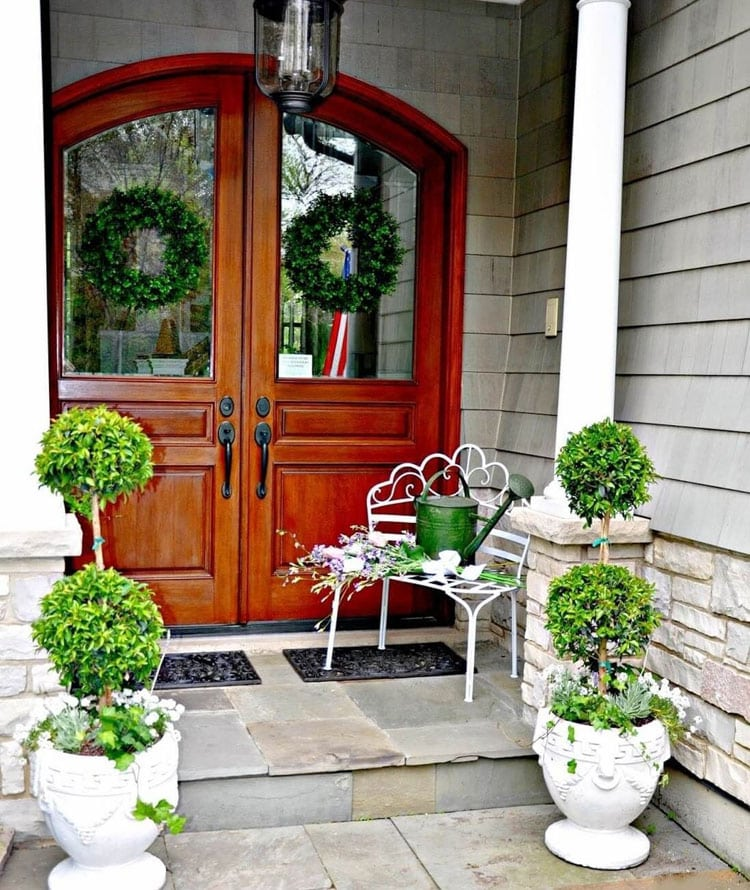 Modern Front Door Planter Ideas