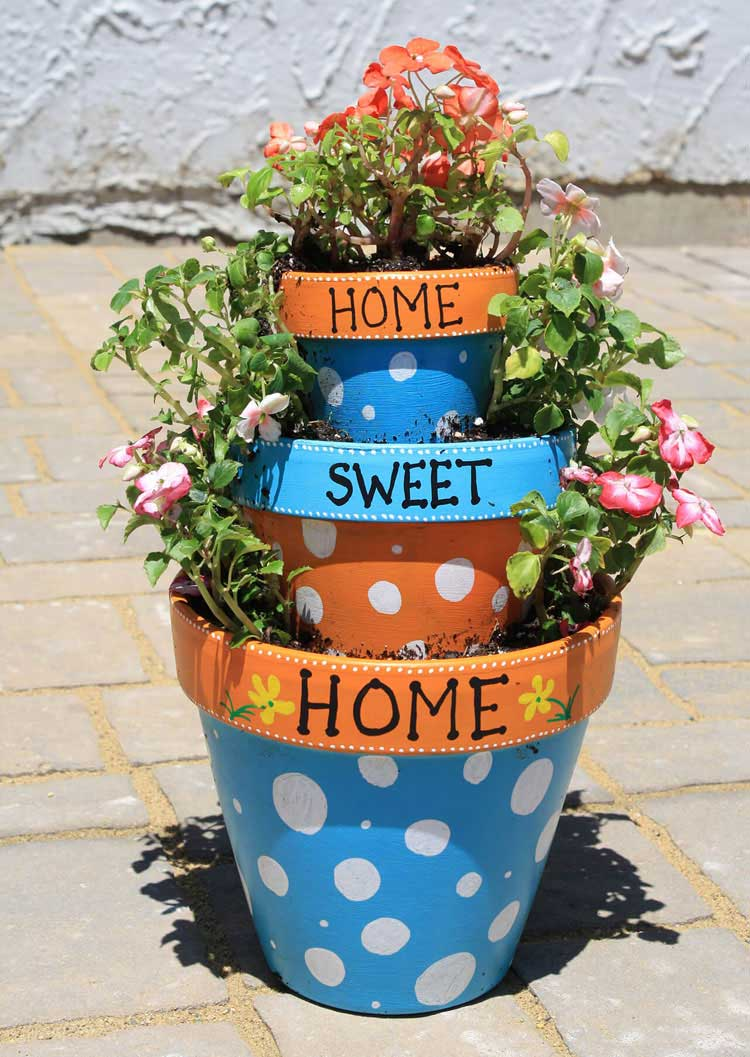 Pretty Flower Pots For Home Entryway