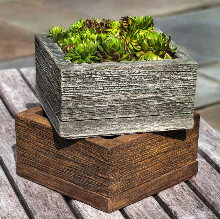 Simple Wood Planter Decorations For Patio