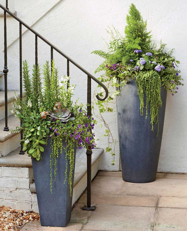 Tall Planters For Front Door