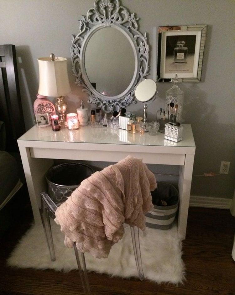 Teen Girl Room Designs with Makeup Vanity