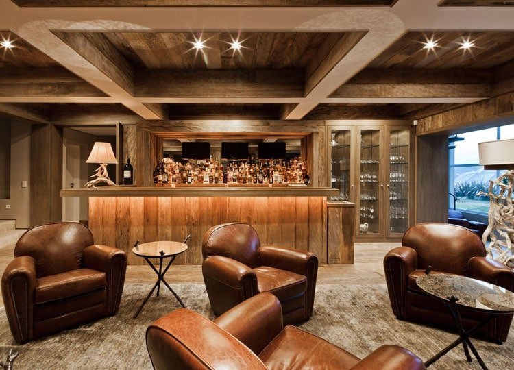 Trendy Custom Finished Home Bar Makes A Perfect Retreat