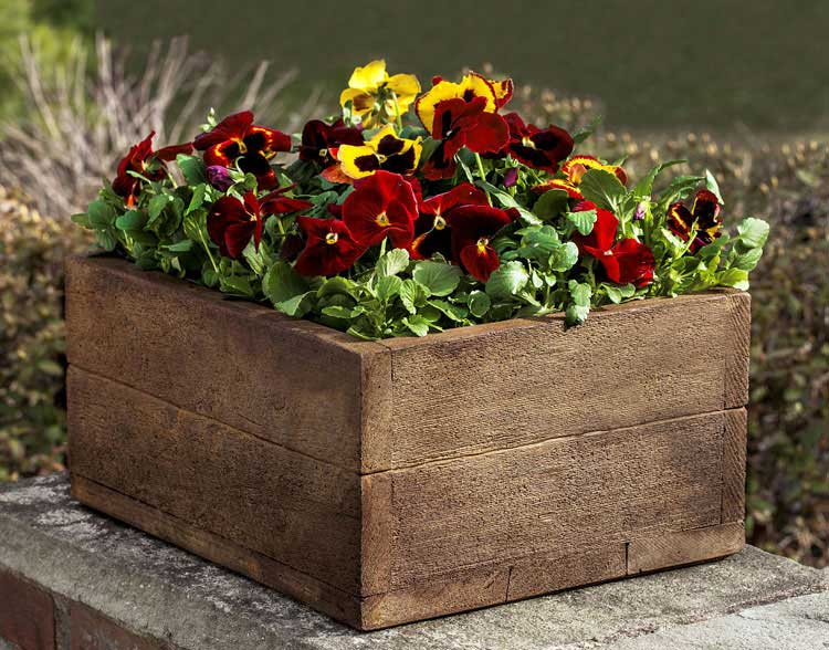 Wooden Flower Pot Arrangement For Front Door