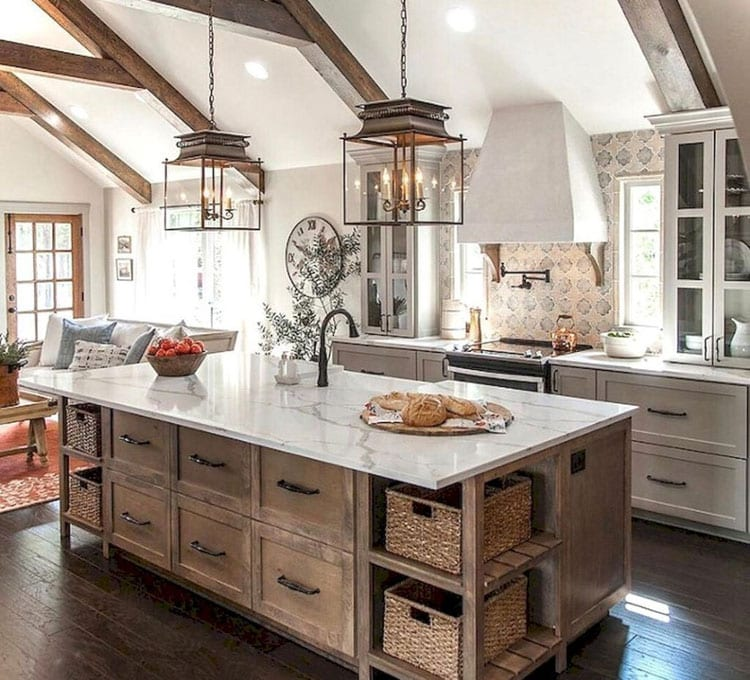 Beautiful Country Farmhouse Kitchen Decorating Ideas