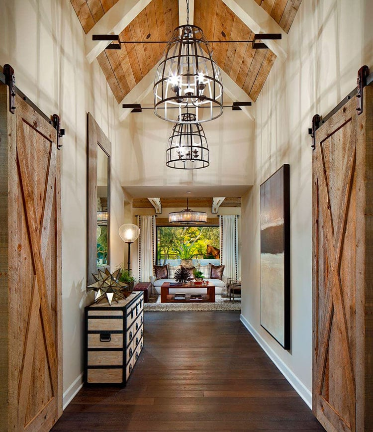 Beautiful Farmhouse Interior Design with Ceiling Ideas