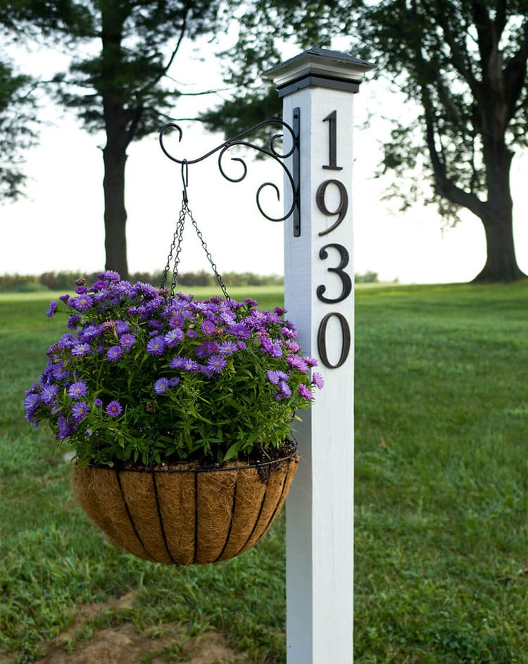 A Rustic Address Sign Post Will Help People Find Your Farm