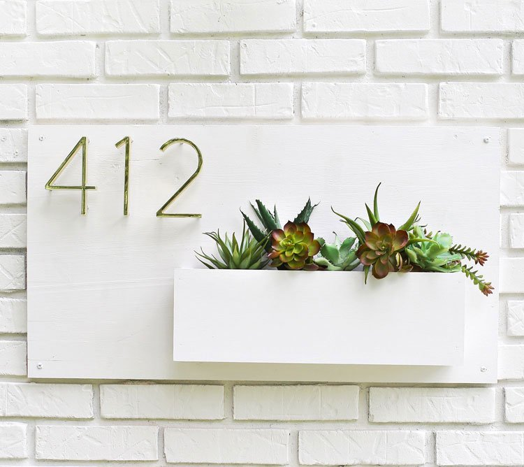 Classy DIY Address Sign with Planter