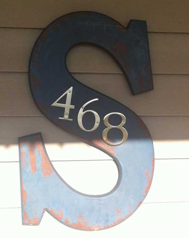 House Number with Family Initials