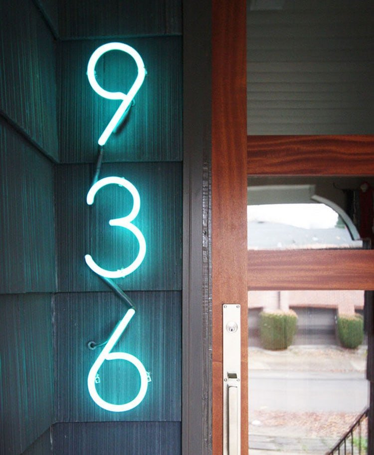 Modern Light House Numbers
