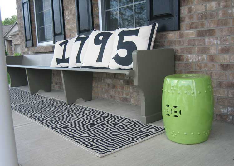 Numbers on Porch Bench Pillows