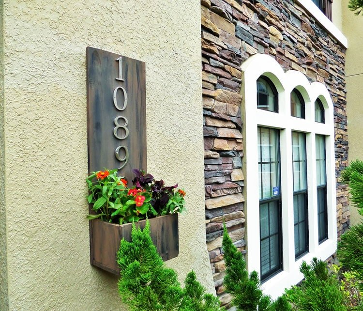 Rustic House Numbers For A Natural Stone Home