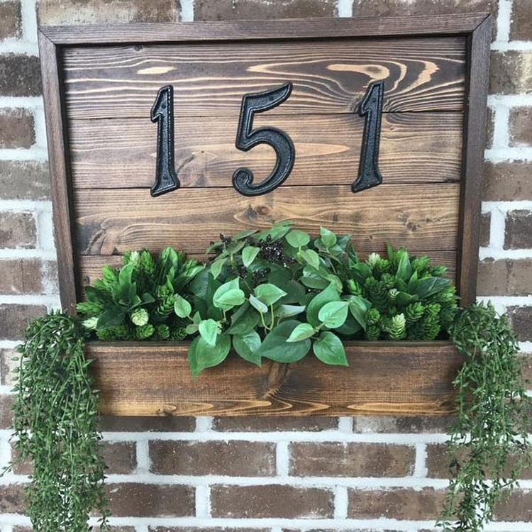 Unique Address Plaques with Planters Always Look Good