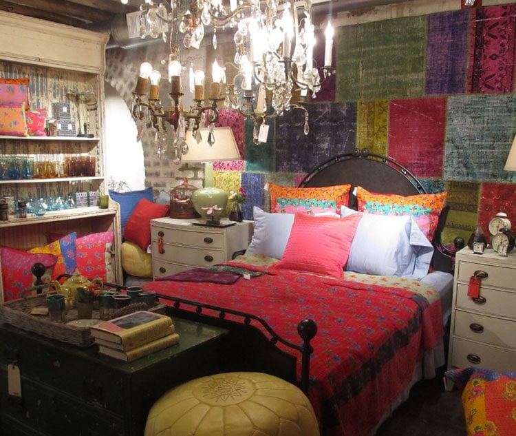 Bohemian Bedroom Mix and Match Patterns