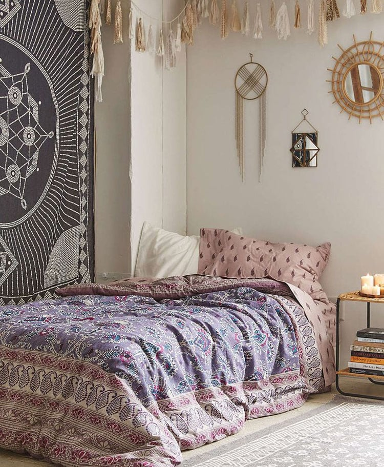 Bohemian Bedroom Wall Hangings and Decor