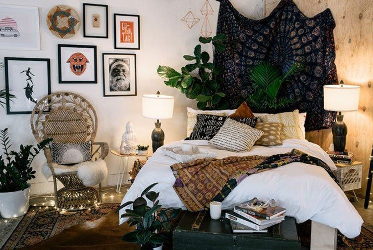 Bohemian Style Bedroom Decorations