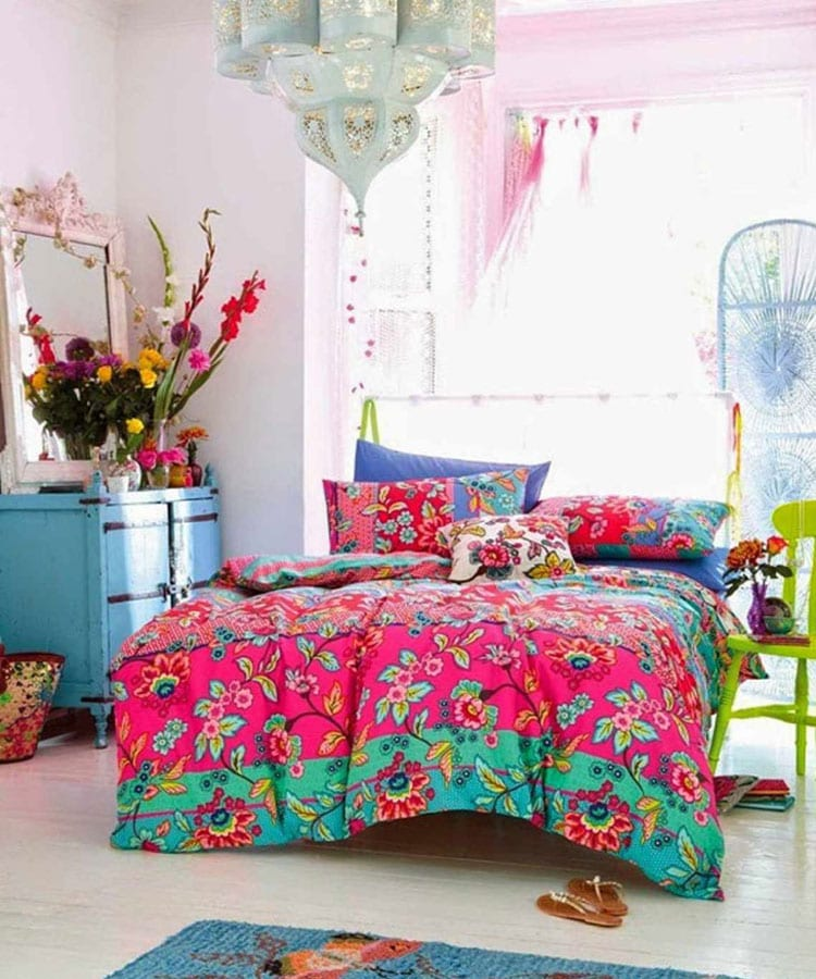 Colorful Boho Bedroom