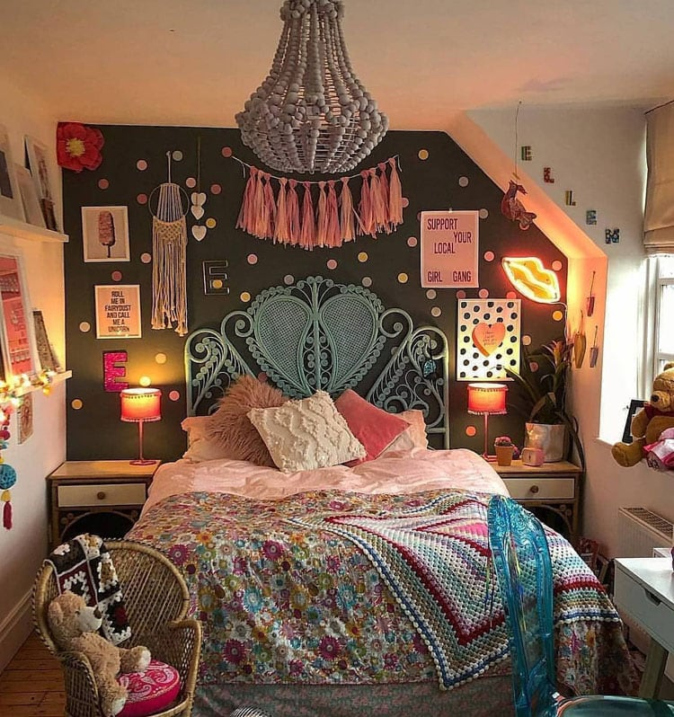 Cool Boho Style Vibes For Girl's Bedroom