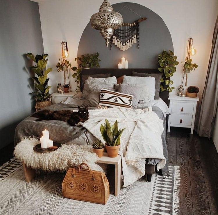 63 Bohemian Bedroom Decor Ideas (2020 Guide) on Boho Master Bedroom Ideas  id=37064