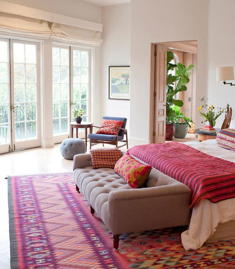 Pink Bohemian Bedroom with Furniture